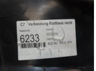 Накладка порога (внутренняя) для Audi A6 C7 2011 -. Артикул 290581.