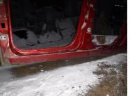 Порог со стойкой левый для Renault Scenic 2 2003 -2009. Артикул 565219.
